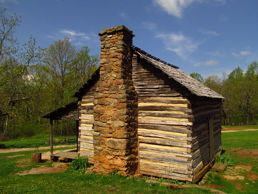 One of the many authentic structures found at the William J Carter Farm