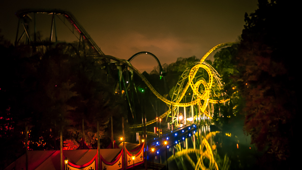 busch gardens roller coasters at howl o scream