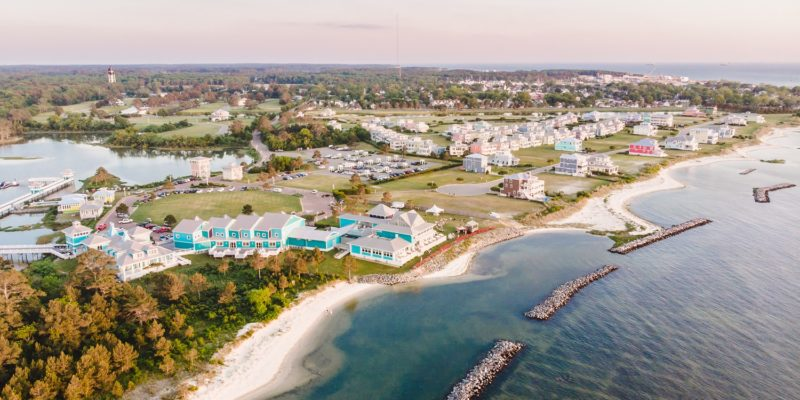 10 miles north of the Chesapeake Bay Bridge Tunnel, you'll find the quaint little beach town, Cape Charles. It has undergone an amazing transformation, now a budding food and outdoor scene.