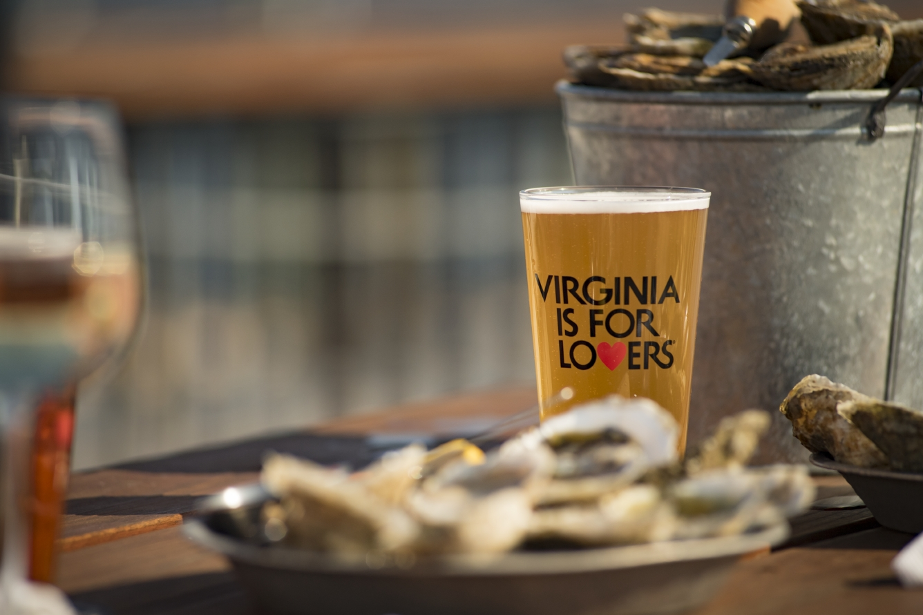 craft beer with oysters virginia beaches