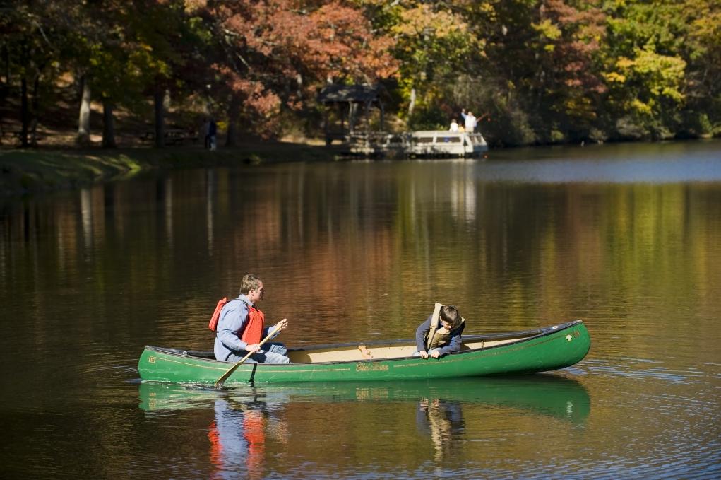 Sherando Lake features swimming, camping, picnicking, hiking and fishing.