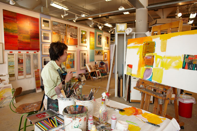 Marsha Staiger, painter. Torpedo Factory Art Center. Old Town, Alexandria.