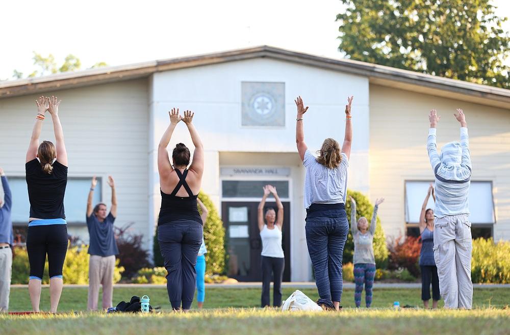 Hatha Yoga on the Yogaville quad