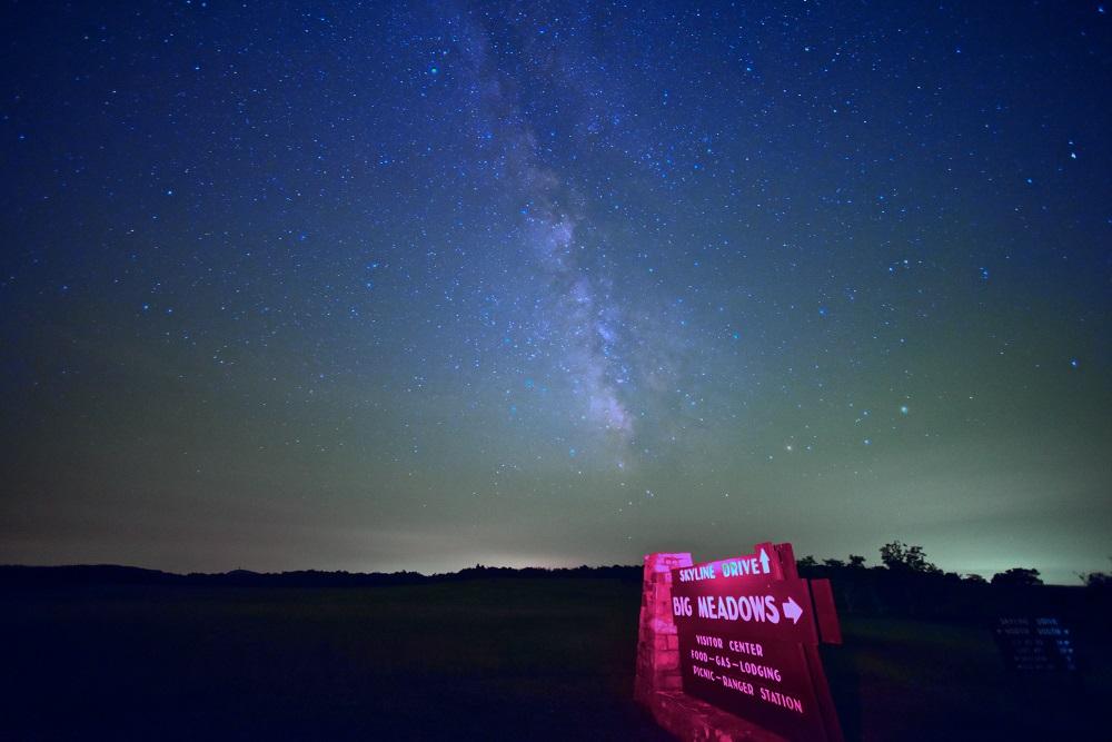 Greg Redfern skyline drive night skies