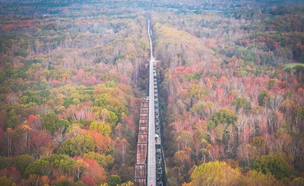 High Bridge Trail in the Fall