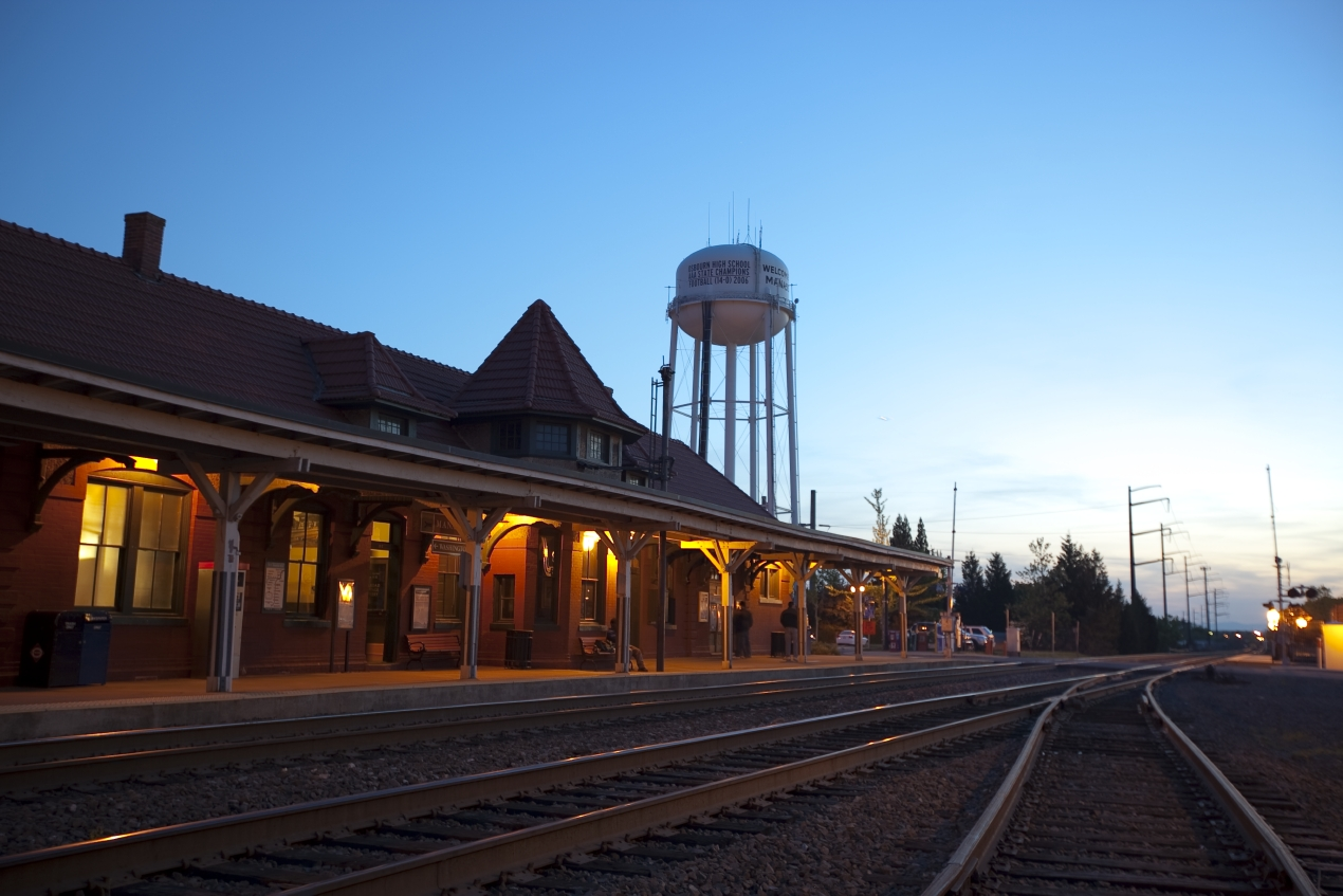Manassas train station.