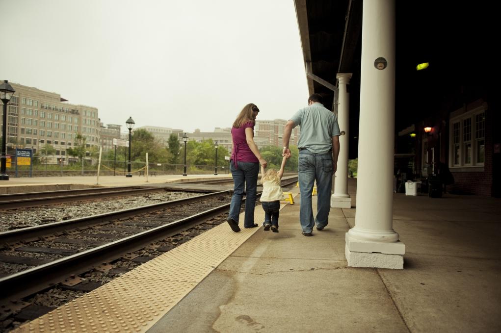 Amtrak in Virginia Alexandria Train Station