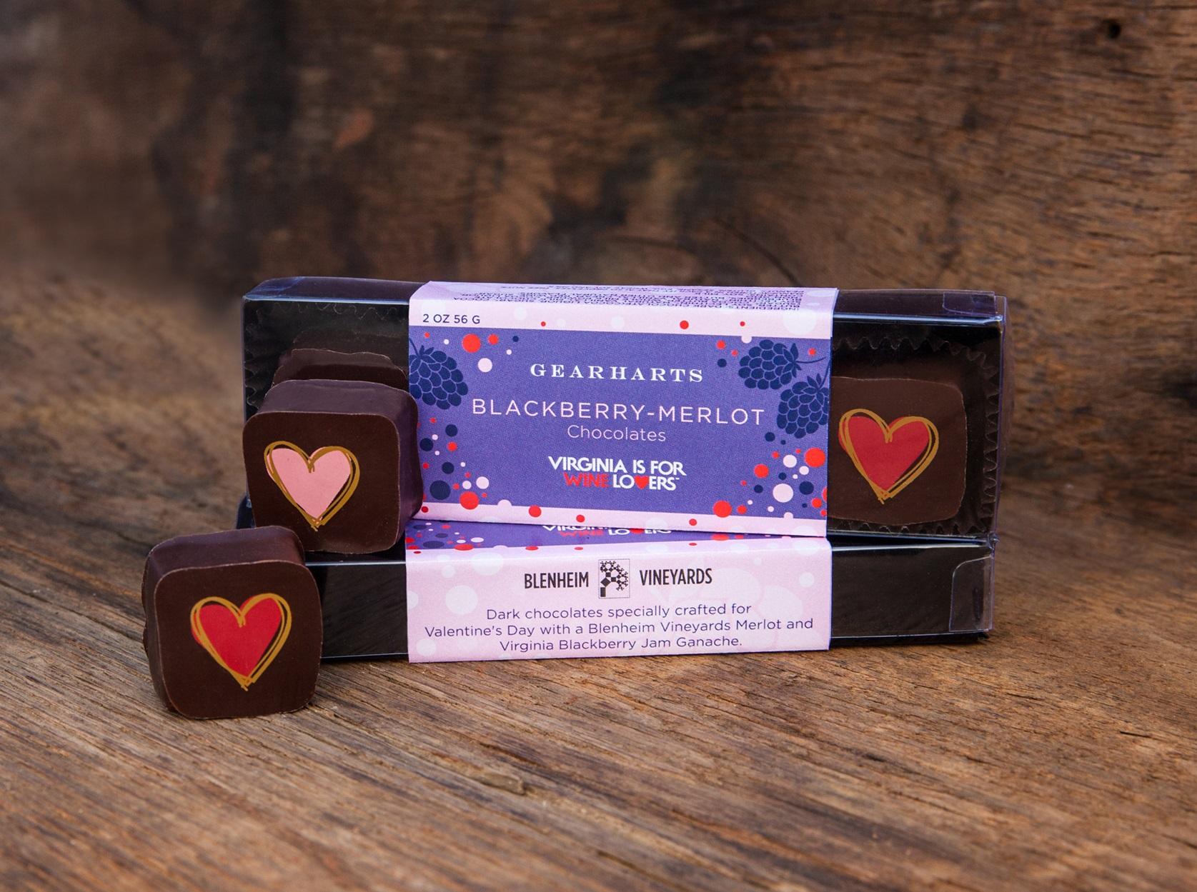 Gearharts Chocolates Blackberry Merlot Blenheim Vineyards