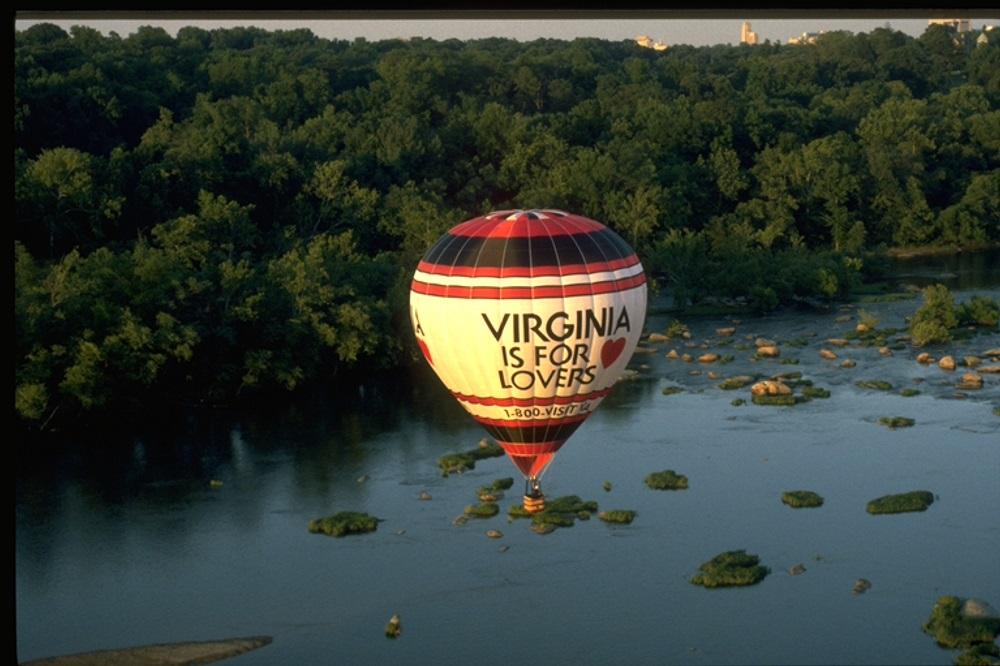 richmond skyline vintage virginia is for lovers hot air balloon