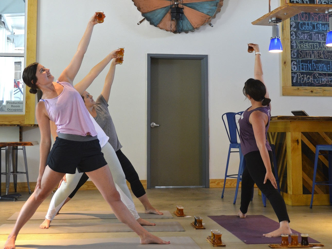 breathe easy and smile yoga class at cape charles brewing company