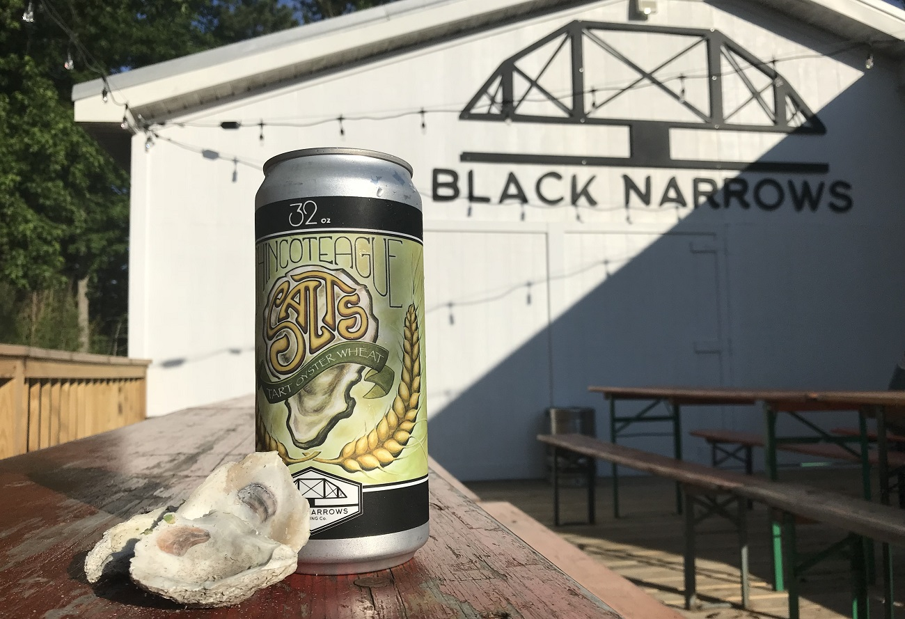 black narrows brewery salts tart oyster beer chincoteague