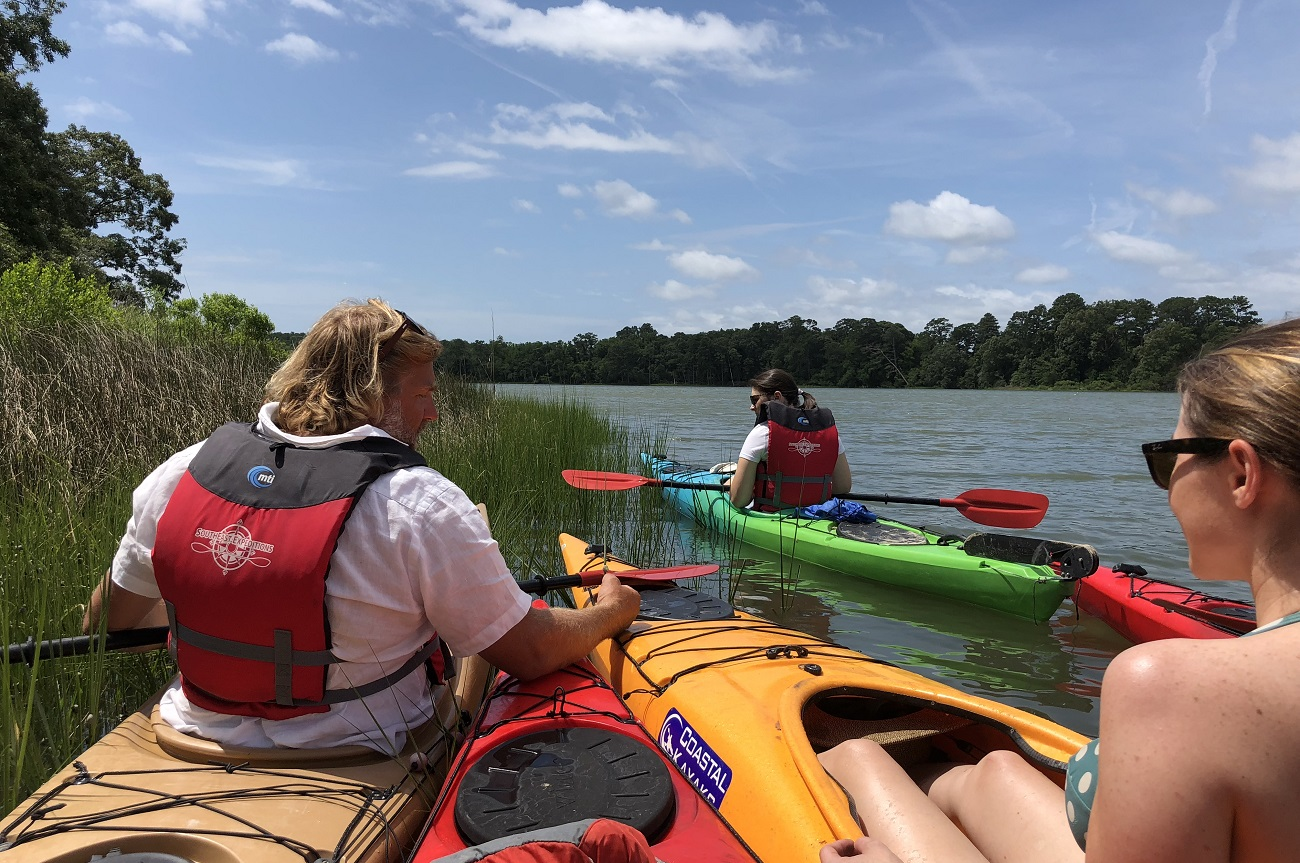 southeast expeditions paddle your glass off kayak tour cape charles to chatham vineyards