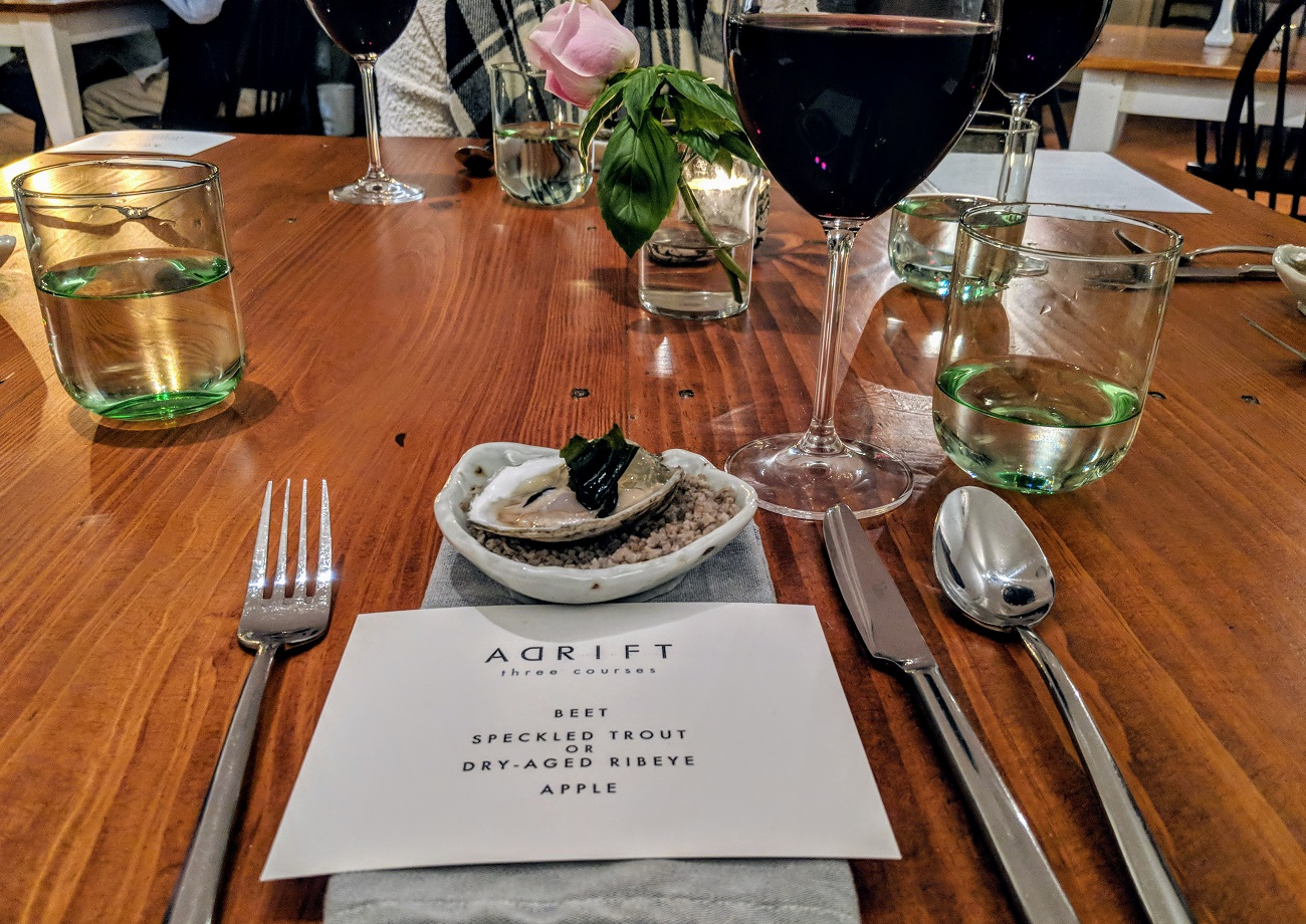 adrift restaurant kilmarnock white stone
