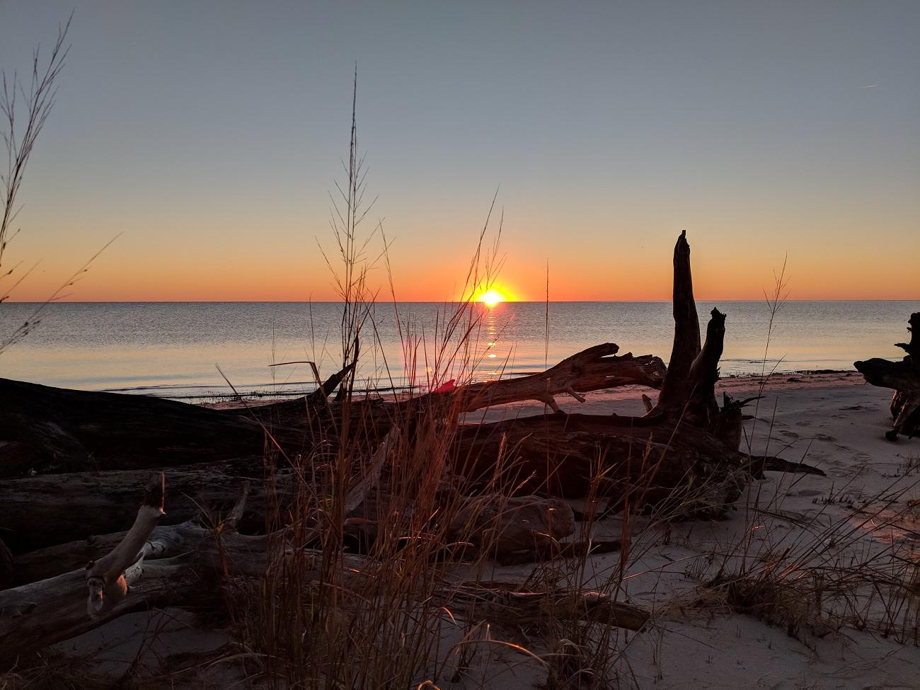 sunrise hike at hughletts point nature area preserve