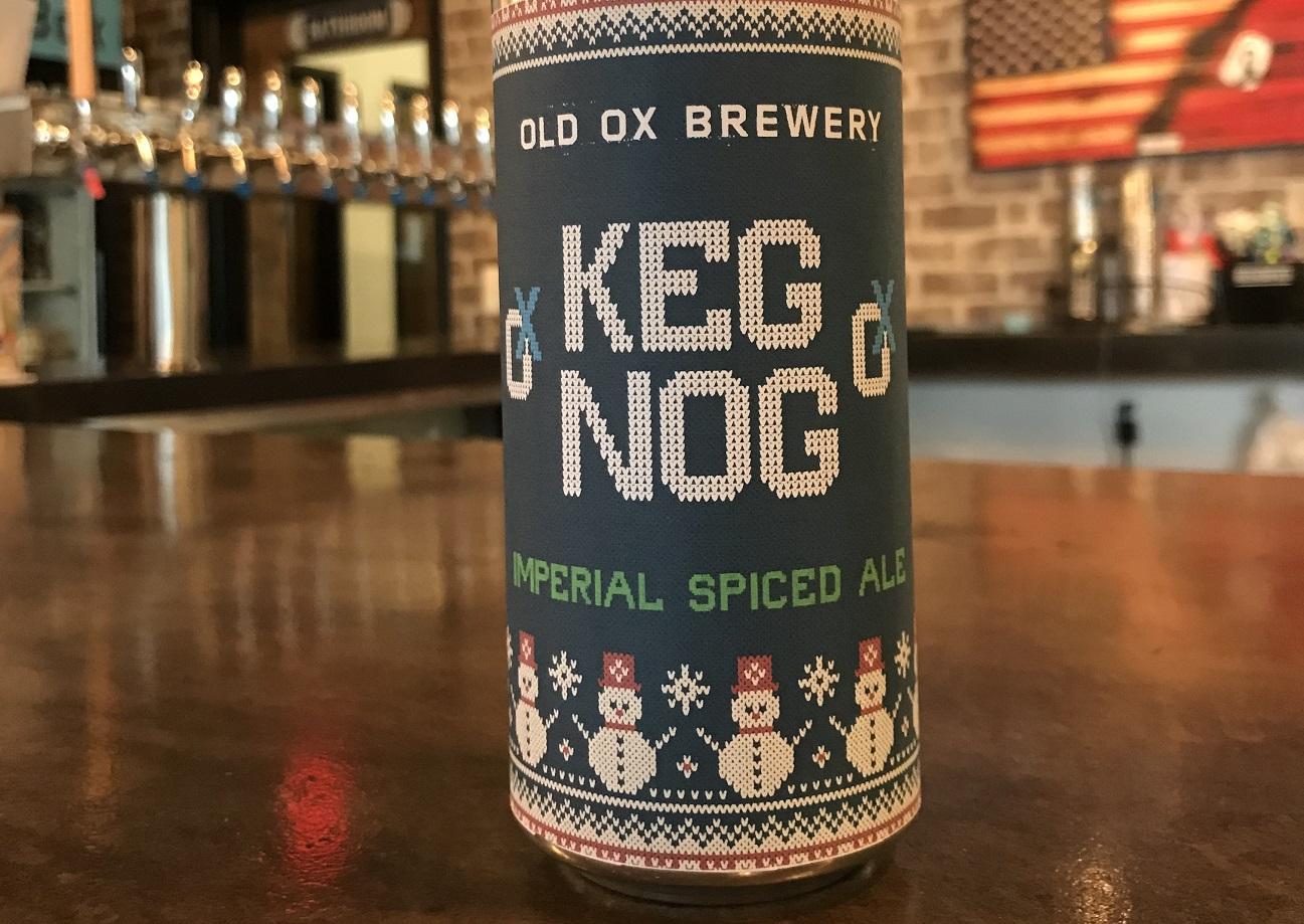 old ox brewery keg nog holiday beer
