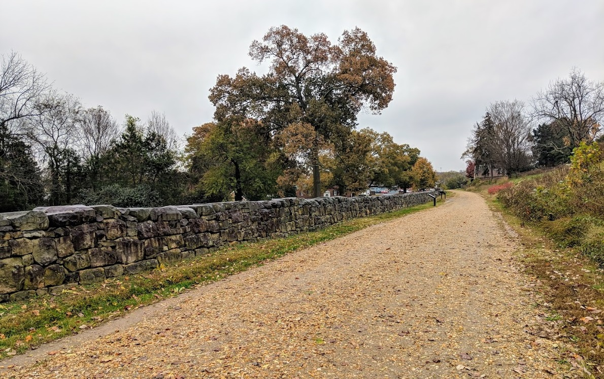 sunken road at Fredericksburg battlefield national historical park