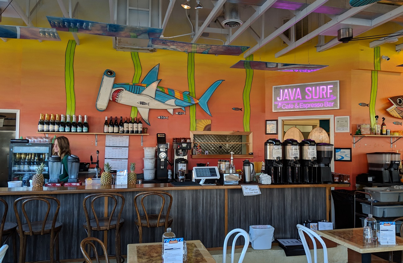 java surf coffee shop in the vibe creative district in virginia beach