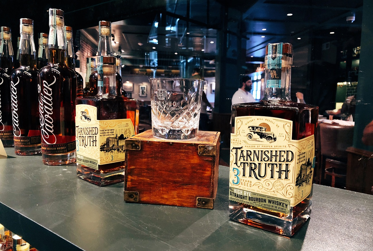 tarnished truth distilling company at the cavalier hotel in virginia beach