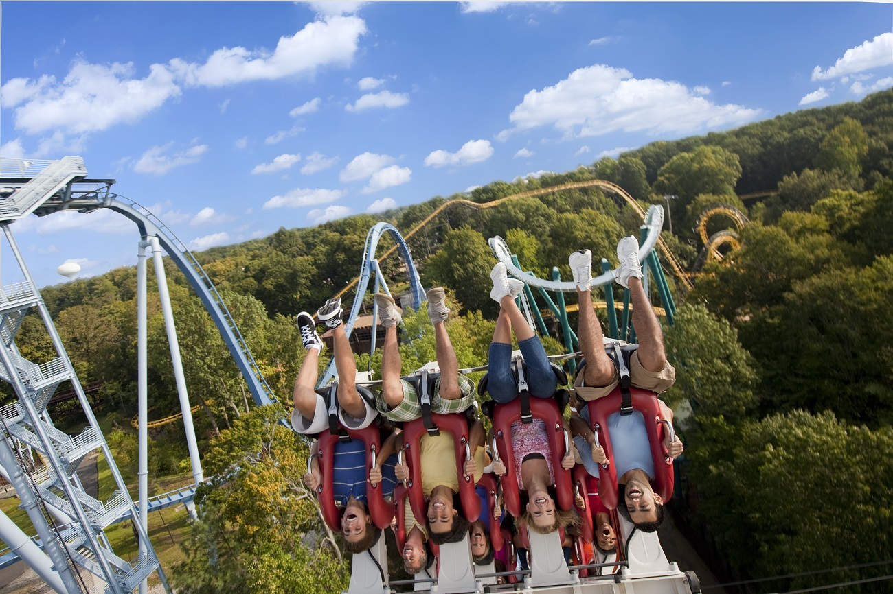 Alpengeist roller coaster ride at Busch Gardens