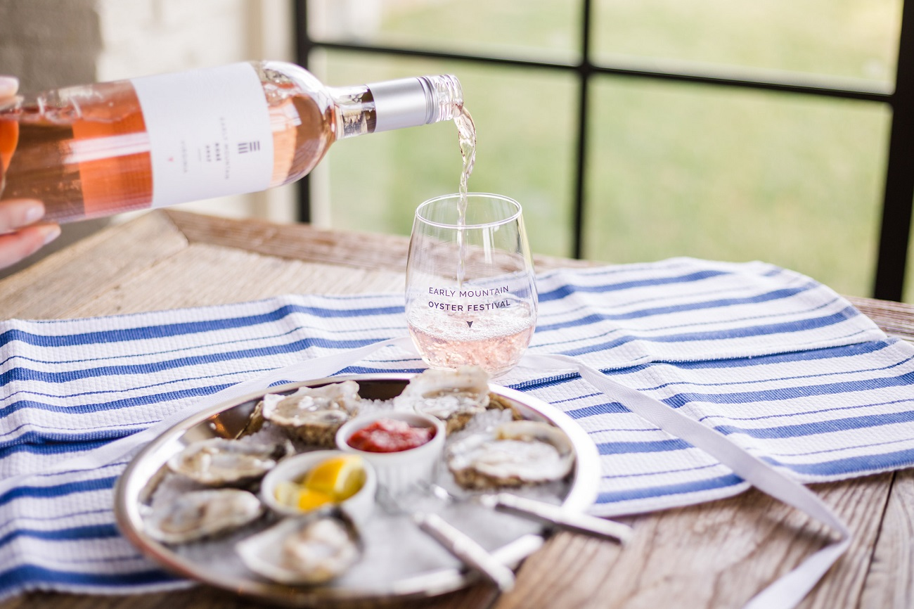 early mountain oyster and wine festival