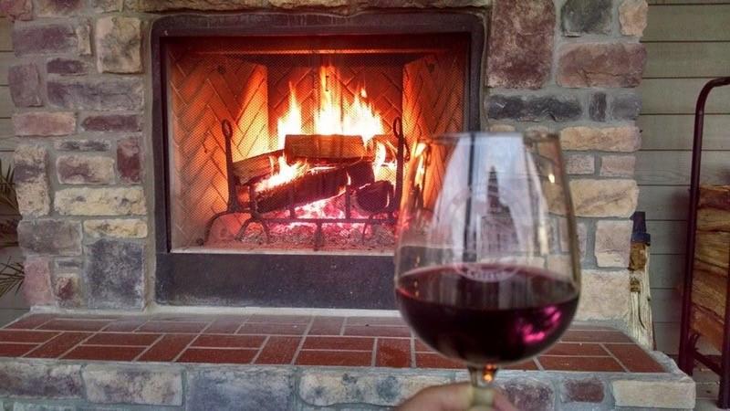 good luck cellars fireplace