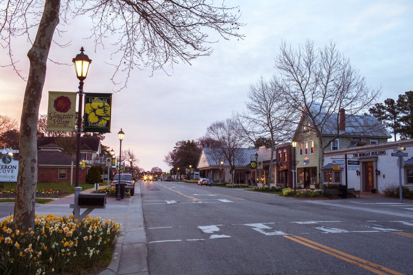 Scenic Gloucester during the Daffodil Festival
