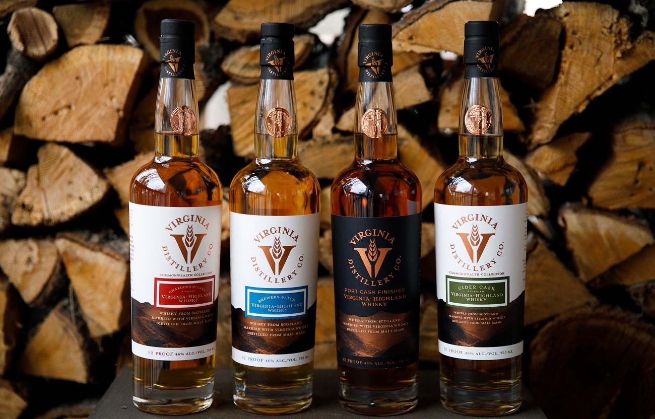 Virginia Distillery Company Virginia highland whiskey series