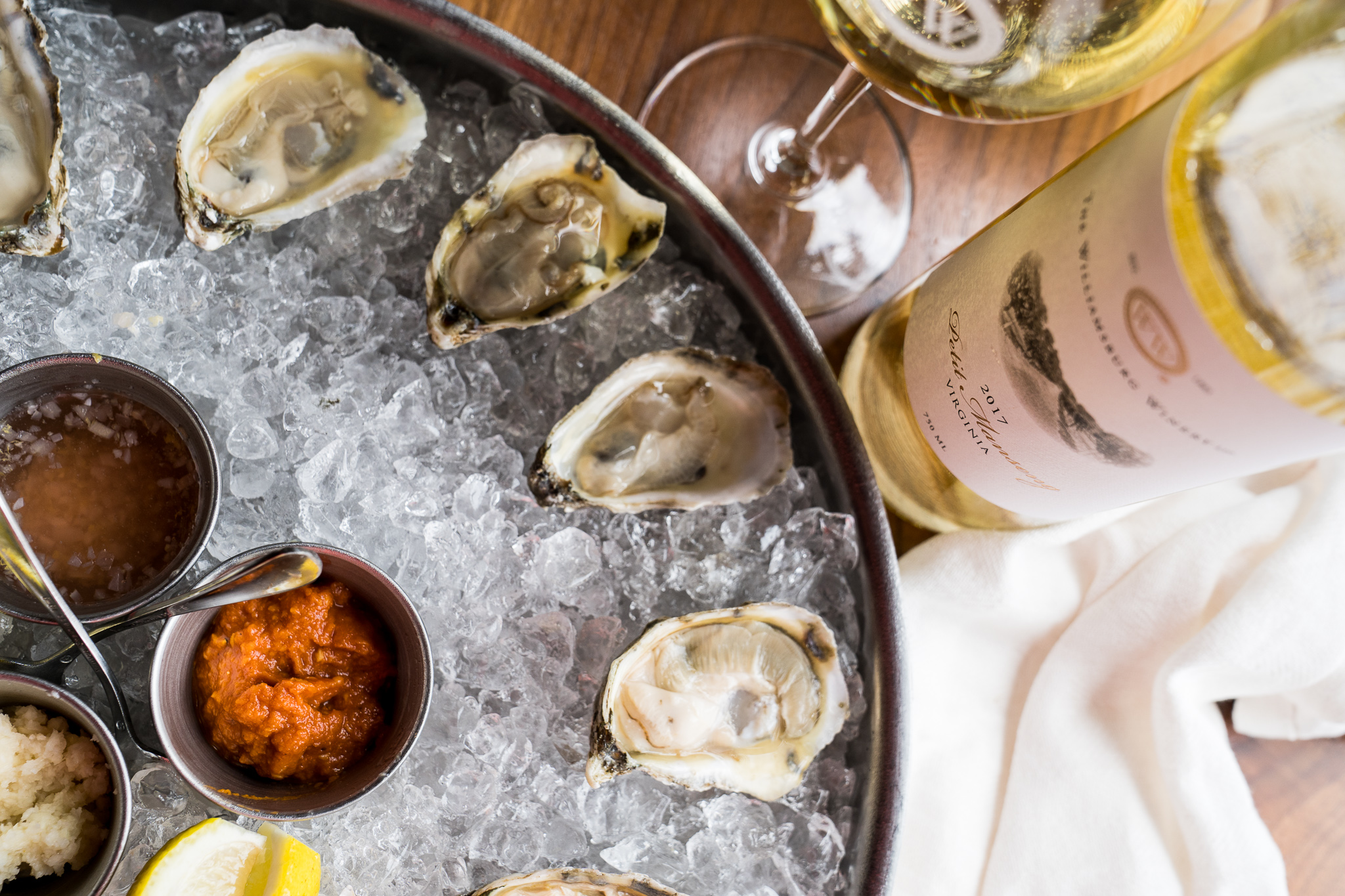 The Williamsburg Winery Oysters