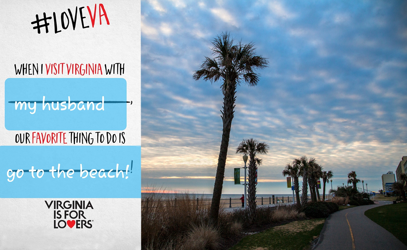 Sunrise on the Boardwalk in Virginia Beach