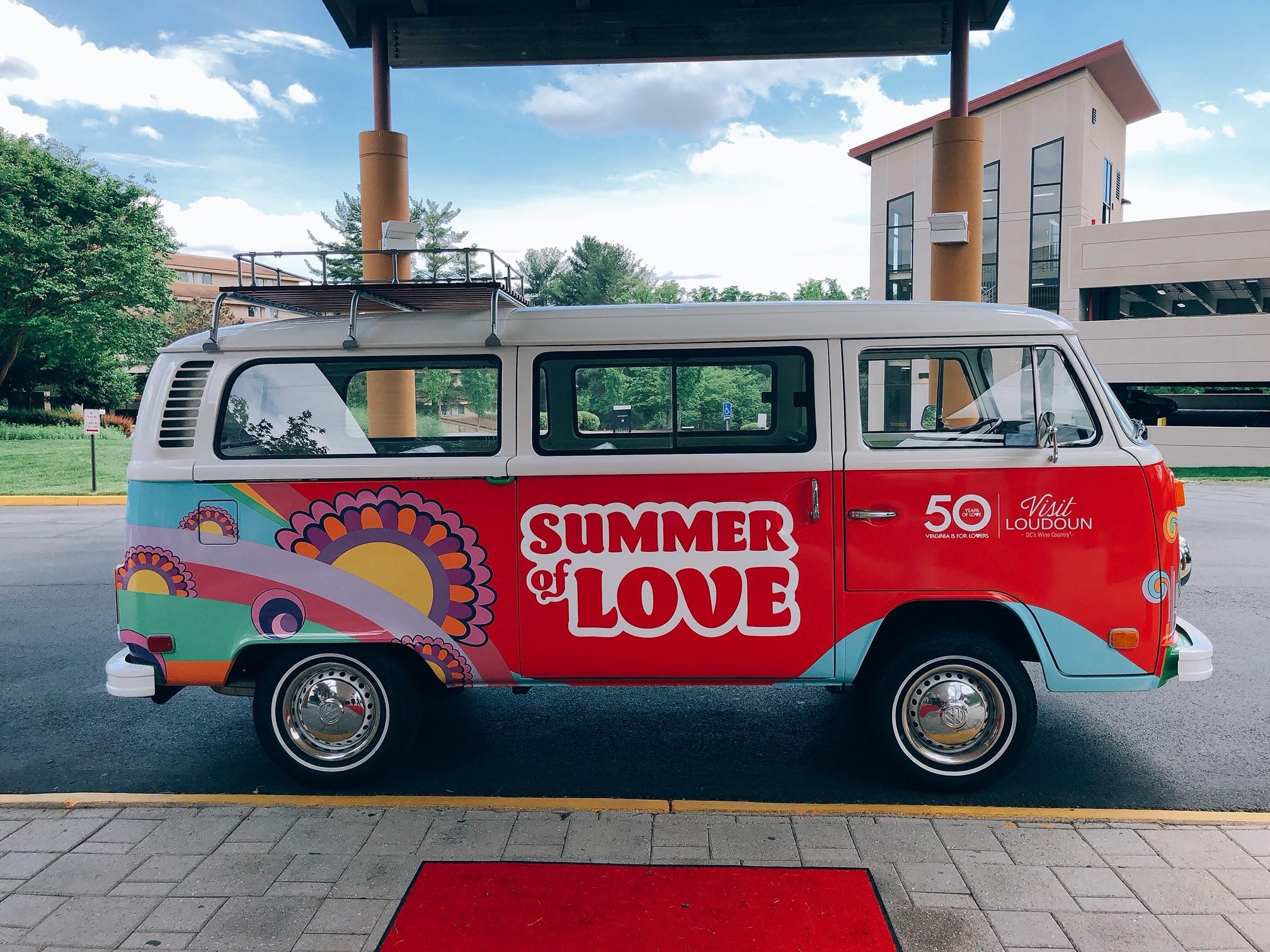 VW Loudoun 50 Years of Love bus