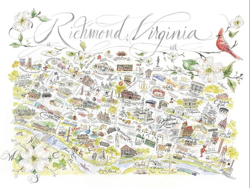 Richmond Prints from Claire Hill artwork drawings