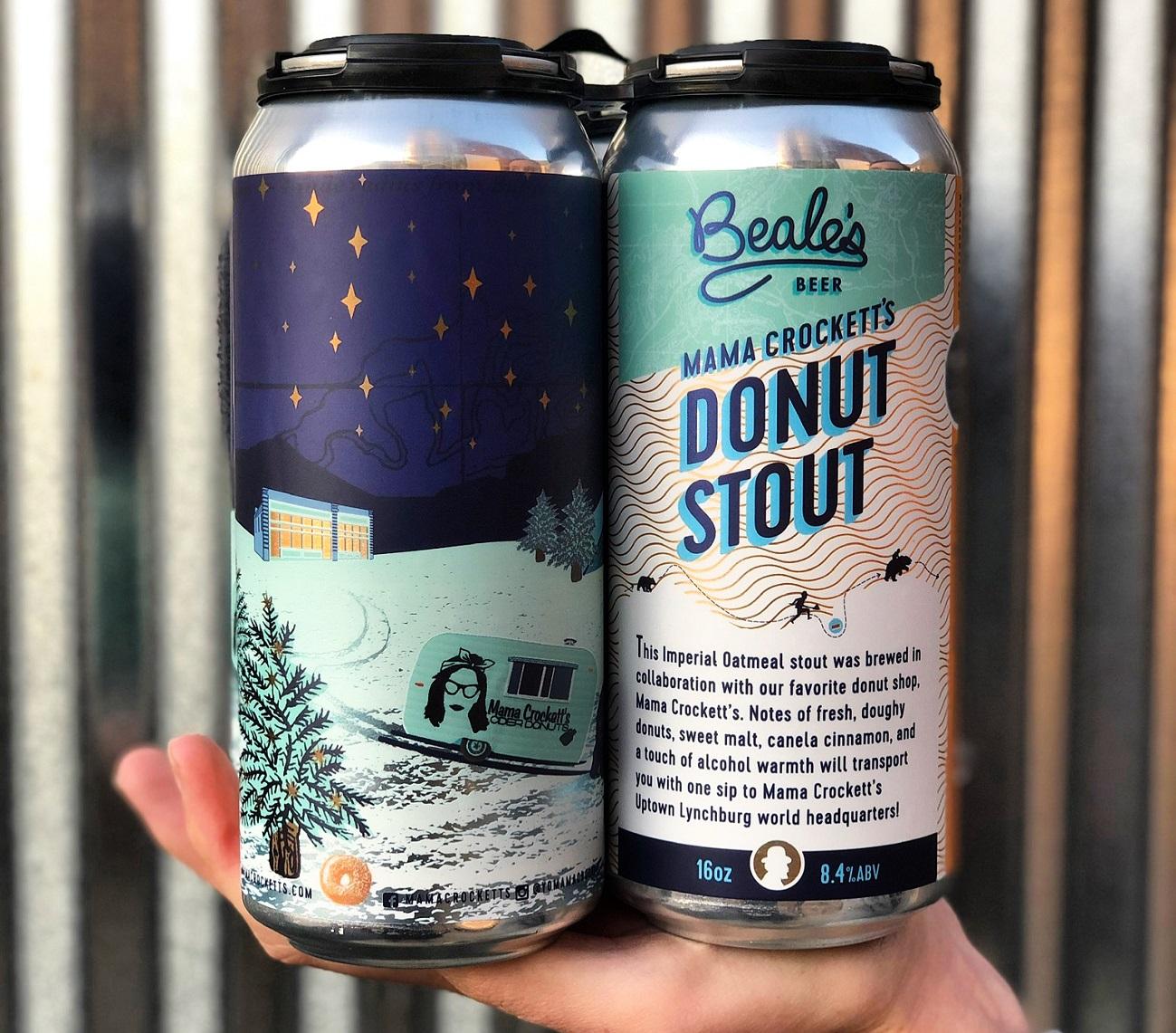 Beale's Mama Crockett's Donut Stout beer