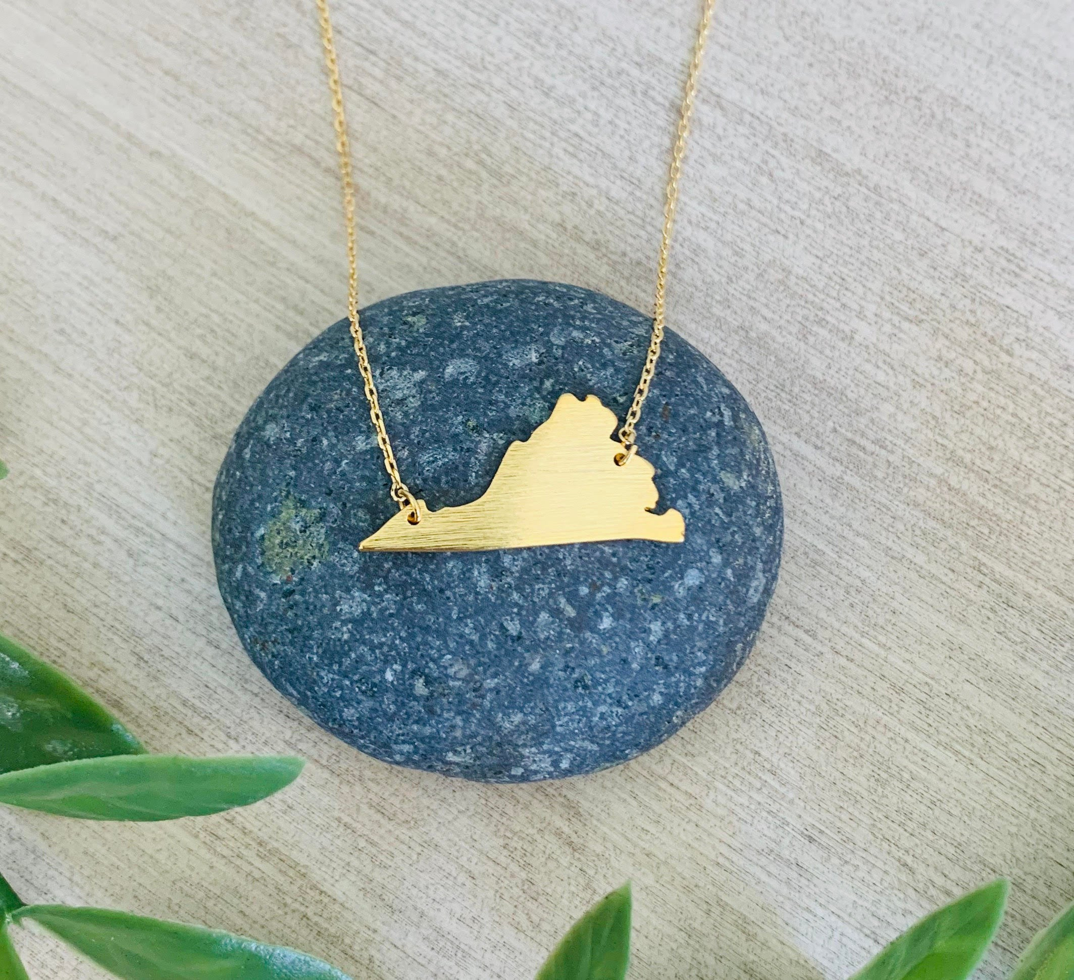 Virginia state necklace by Amy Houston
