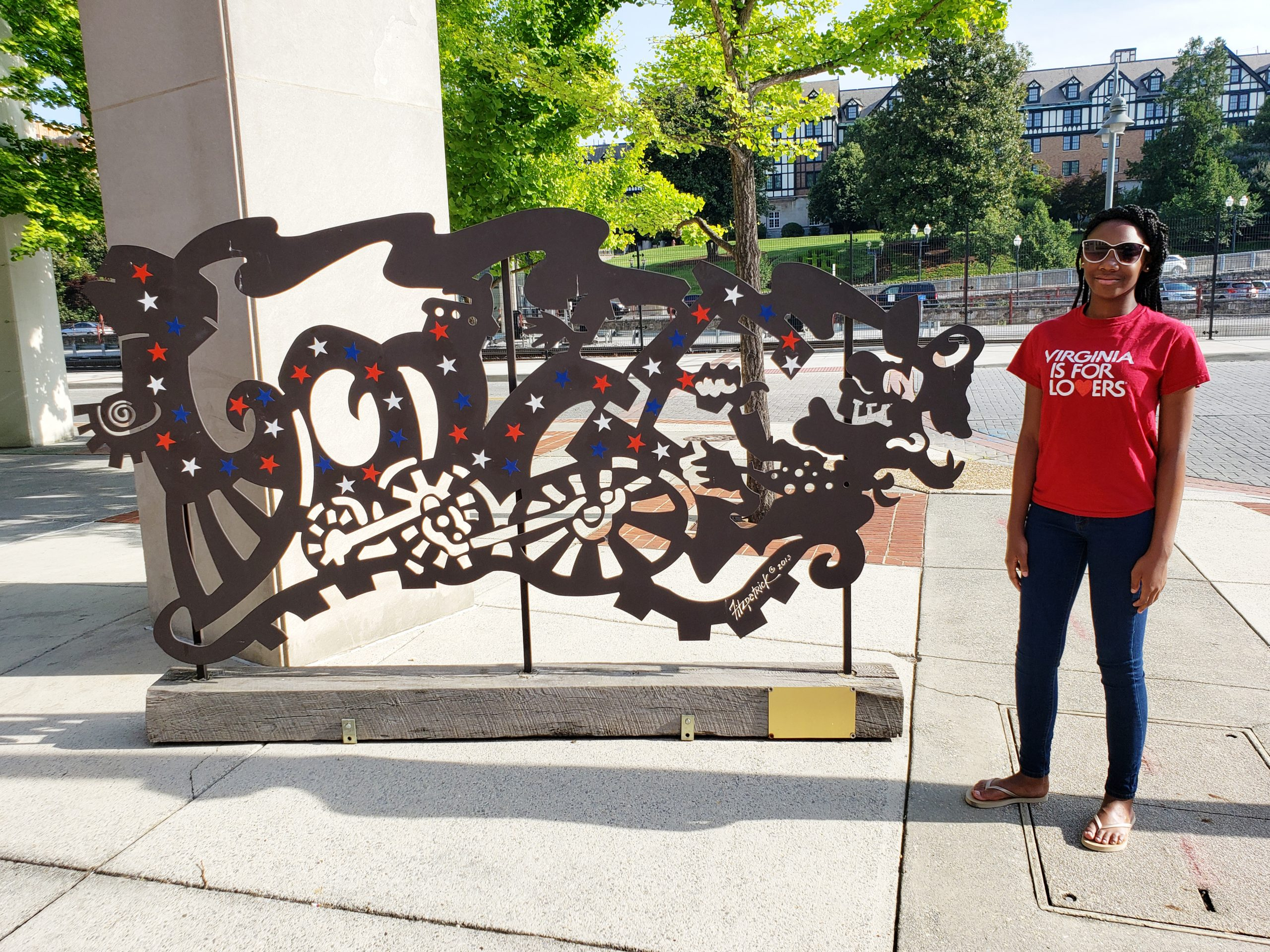 The LOVEwork was designed by well-known Roanoke artist Eric Fitzpatrick and was inspired by Roanoke's rail heritage.