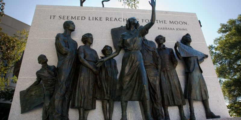 Virginia Civil Rights Memorial Statue in Richmond