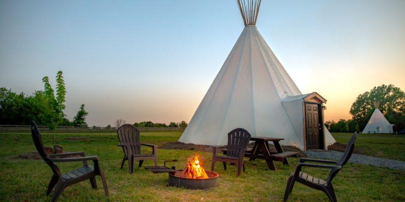 Sandy River Outdoor Adventure Resort Glamping Tipis