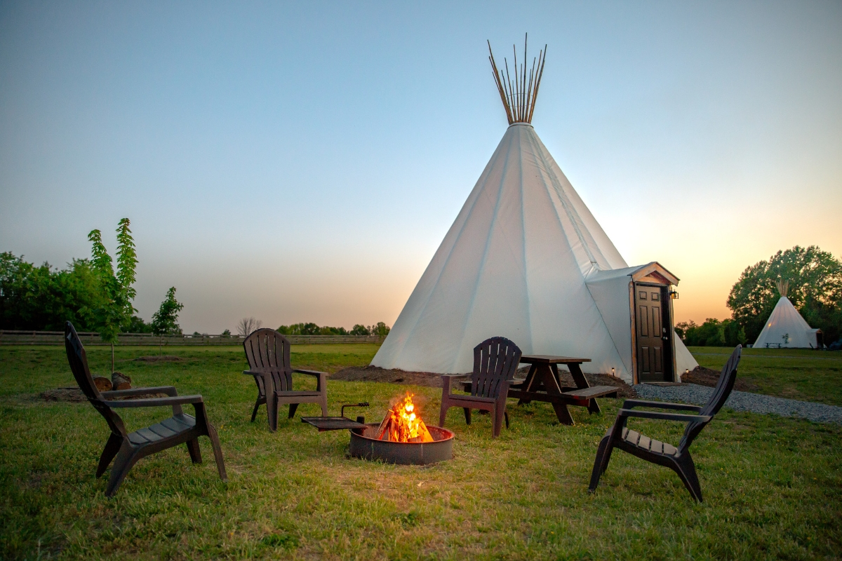 Sandy River Outdoor Adventure Resort Glamping Tipis