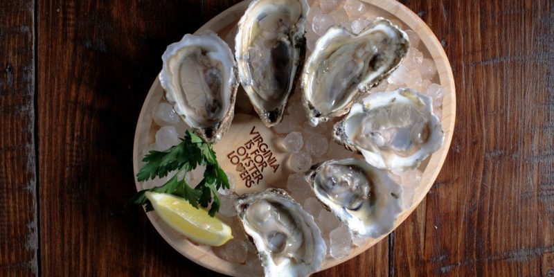 Virginia is for Lovers oyster platter